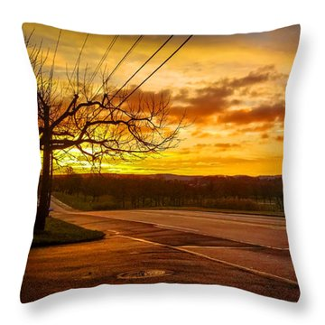 Broadway Sunrise Throw Pillow