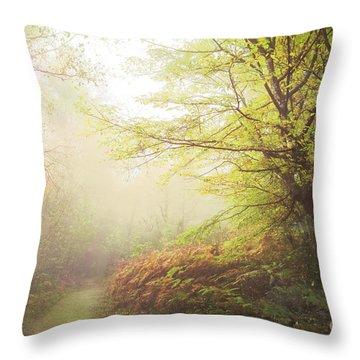 Broceliand Path Throw Pillow