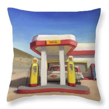 Broken Spoke Saloon, Lowell Throw Pillow