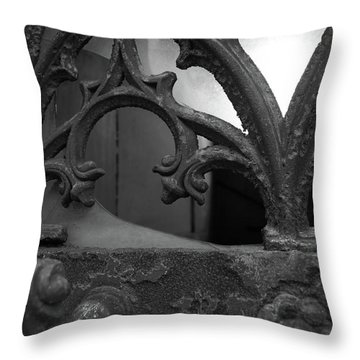 Throw Pillow featuring the photograph Broken Window by Edward Lee