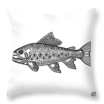 Brook Trout Throw Pillow