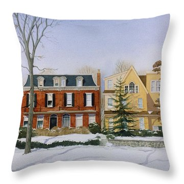 Broom Street Snow Throw Pillow