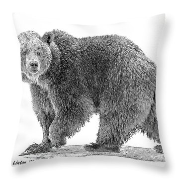 Brown Black And White Throw Pillow