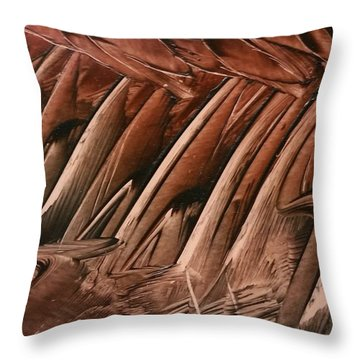 Brown Ladders/steps Throw Pillow