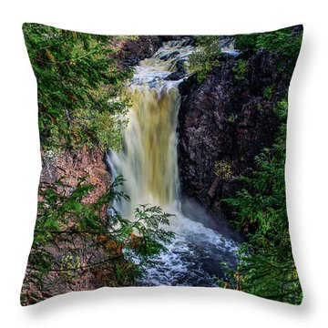 Brownstone Falls Throw Pillow