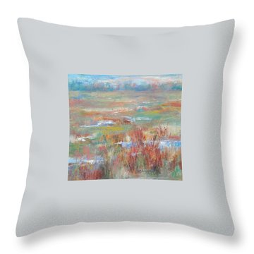 Brush Creek In Abstract Throw Pillow
