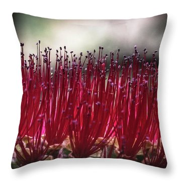 Brush Flower Throw Pillow