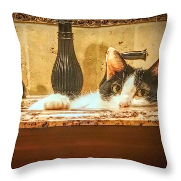 Brush Your Teeth Elsewhere Throw Pillow