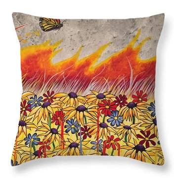 Brushfire Throw Pillow