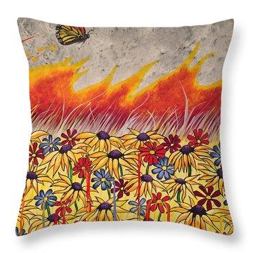 Brushfire Throw Pillow