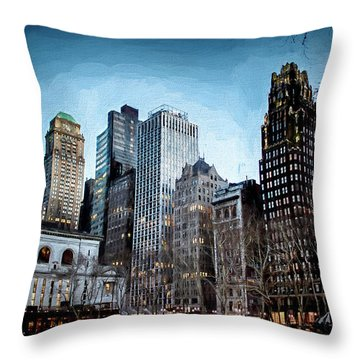 Bryant Park Nyc Throw Pillow