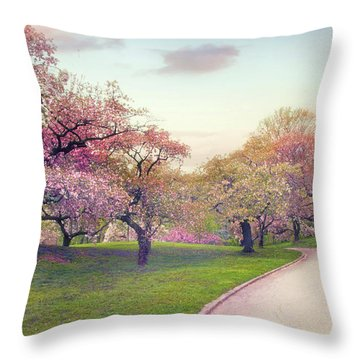 The Cherry Path Throw Pillow