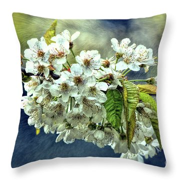 Budding Blossoms Throw Pillow