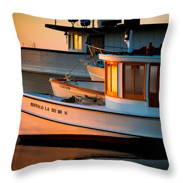 Buffalo Boat Throw Pillow