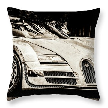 Throw Pillow featuring the photograph Bugatti Legend - Veyron Special Edition -0844scl2 by Jill Reger