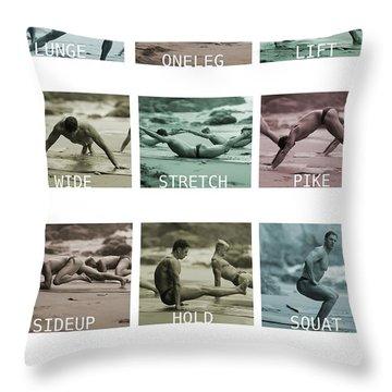 Bum Fit Beach Workout  Throw Pillow