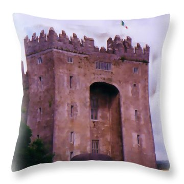 Bunratty Castle Painting Throw Pillow