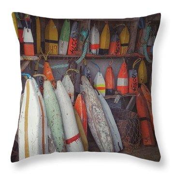 Buoys In A Sea Shack Throw Pillow