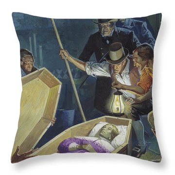 Burke And Hare Throw Pillow