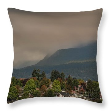 Burnaby Mountain Throw Pillow