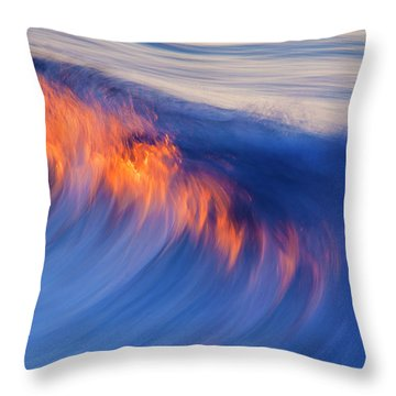 Burning Wave Throw Pillow