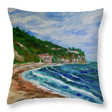 Burnout Beach, Redondo Beach California Throw Pillow