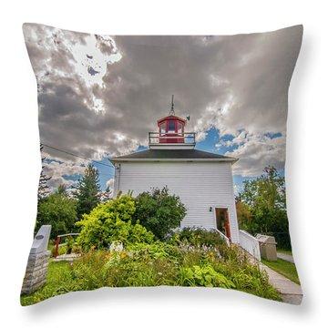 Burntcoast Head Lighthouse  Throw Pillow