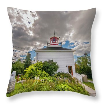 Burntcoast Head Lighthouse  Throw Pillow