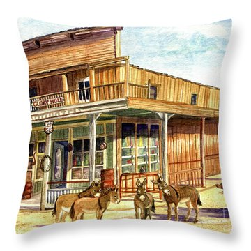 Burros Are Back In Town Throw Pillow