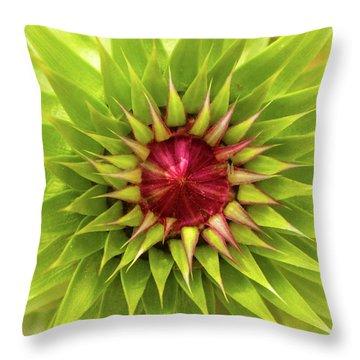 Burst Of Lime Throw Pillow
