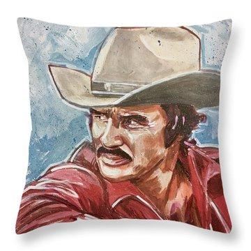 Burt Reynolds Throw Pillow