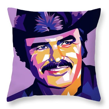Burt Reynolds Throw Pillows