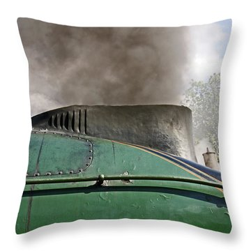Bury. East Lancashire Railway. 60009 Union Of South Af Throw Pillow