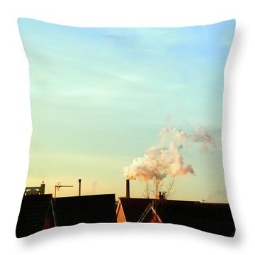 Bury St Edmunds Factory  Throw Pillow
