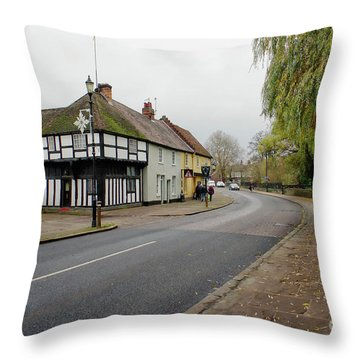Bury St Edmunds Street Throw Pillow