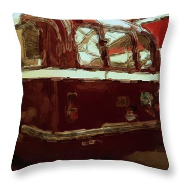 Bus 101 Painting Throw Pillow