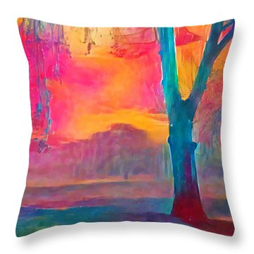 Bush Sunset  Throw Pillow