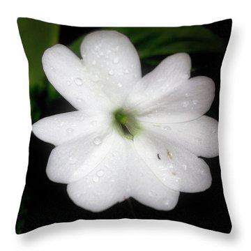 Busy Lizzie Impatien Throw Pillow