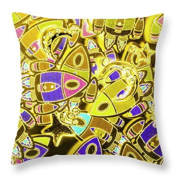 Busy Space Throw Pillow