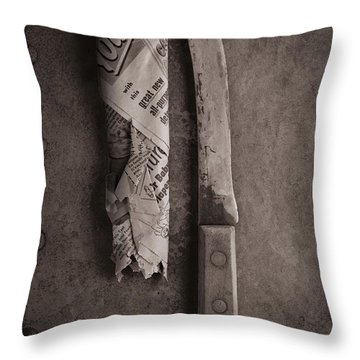 Butcher Knife And Sheath Throw Pillow