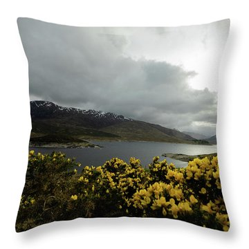 Buttercream Solitude Throw Pillow