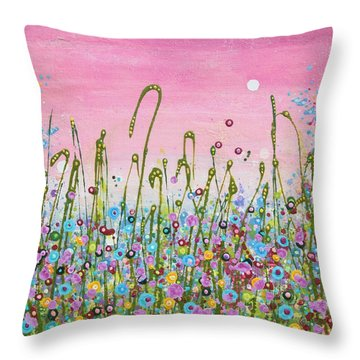 Buttercups And Lilacs Throw Pillow