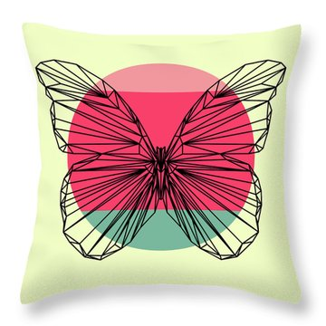 Butterfly And Sunset Throw Pillow