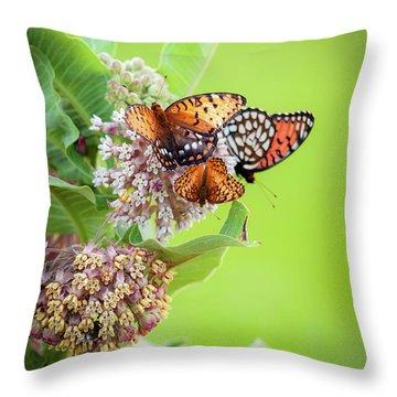 Butterfly Buffet II Throw Pillow