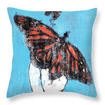 Butterfly Garden Summer 1 Throw Pillow