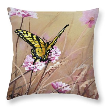 Butterfly Meadow - Part 1 Throw Pillow