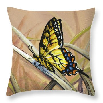 Butterfly Meadow - Part 2 Throw Pillow