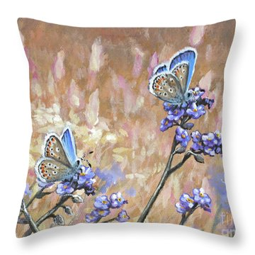 Butterfly Meadow - Part 3 Throw Pillow
