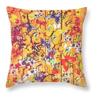 Butterfly Papercraft  Throw Pillow