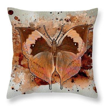 Butterfly Splash Throw Pillow